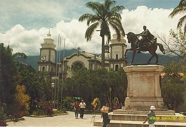 Die Plaza Bolivar in Merida